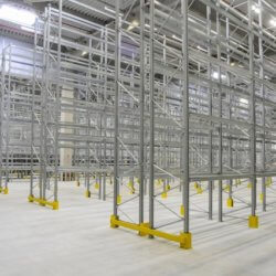 Pallet Racking with column guards