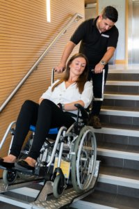 Jolly Wheelchair Stair Climber in Use