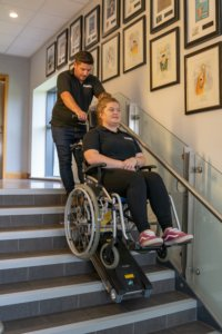 Jolly wheelchair stair climber