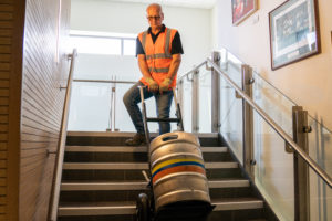 Moving beer kegs