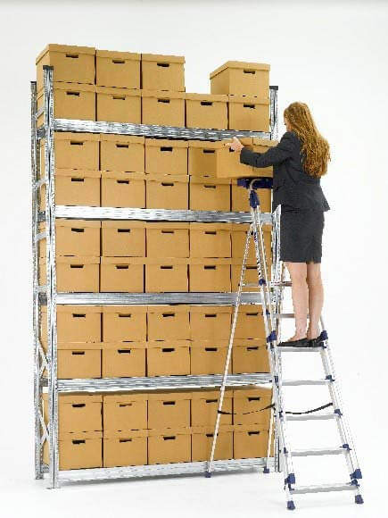 Galvanised shelving