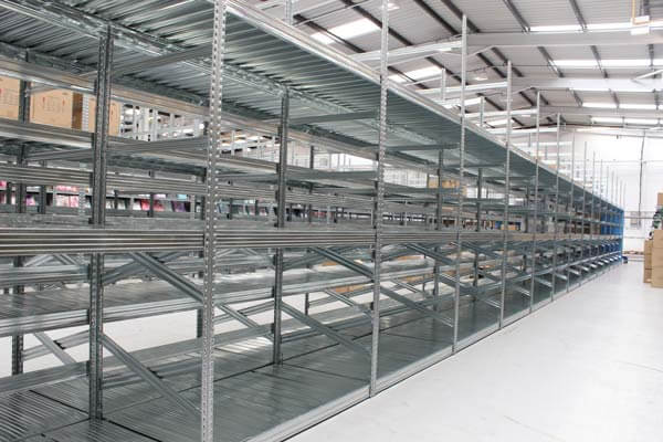 Image of galvanised shelving